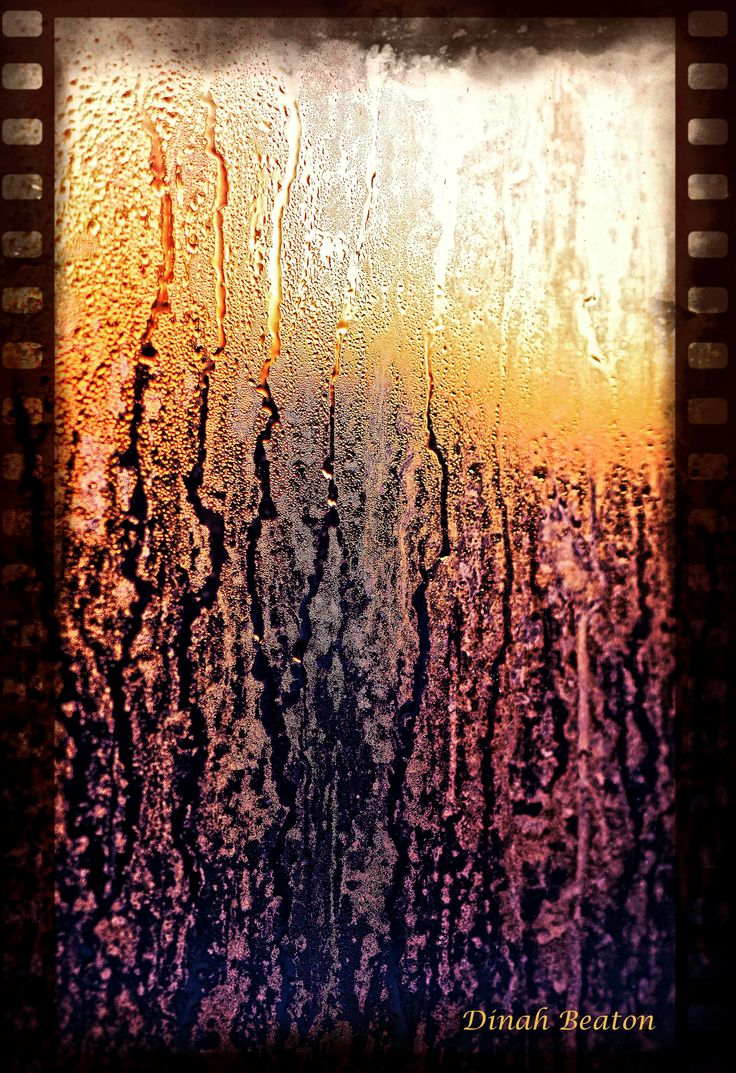 Abstract - Sunset through my window - after the rain  Dinah Beaton Photography