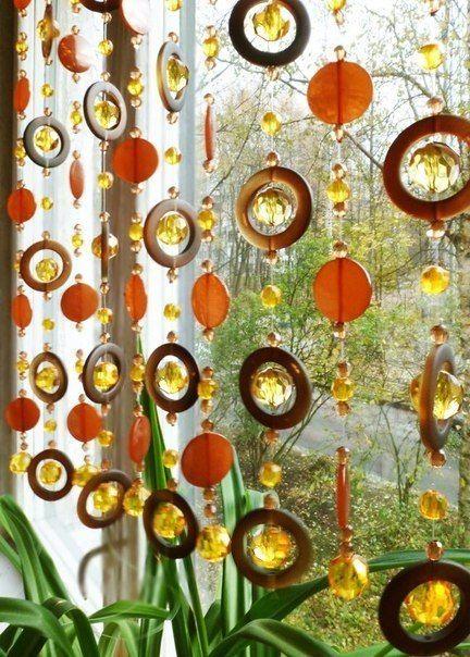 Красивые шторы из бусин своими руками