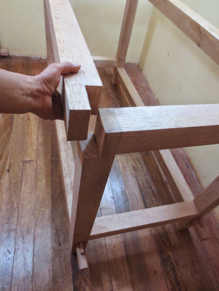 M s de 25 ideas fant sticas sobre juntas de madera en - Como hacer patas de madera para mesas ...