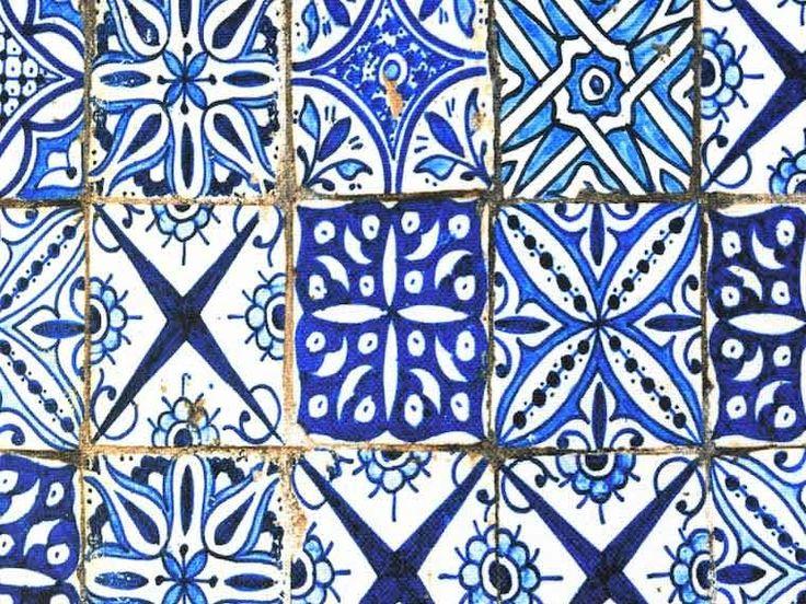 Moroccan mosaic tile fabric