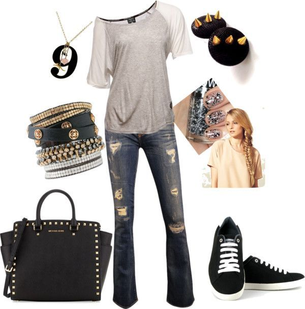 Ready For The Weekend. Fashion. Rocker Chic. Sneakers