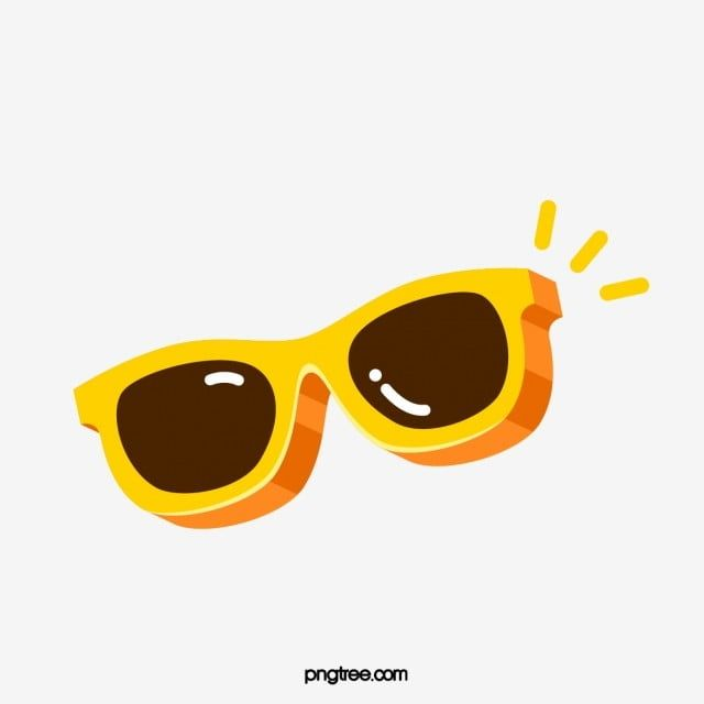 Yellow Cartoon Sunglasses Sunglasses Clipart Sunglasses Glasses Png And Vector With Transparent Background For Free Download
