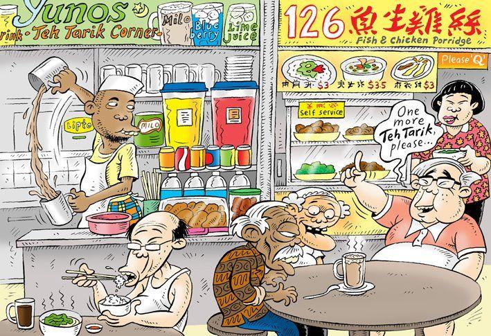Kartun Benny, Tiga Manula Jalan-Jalan Ke Singapura: 2 Bahan Minuman Yang Memberi Kejutan