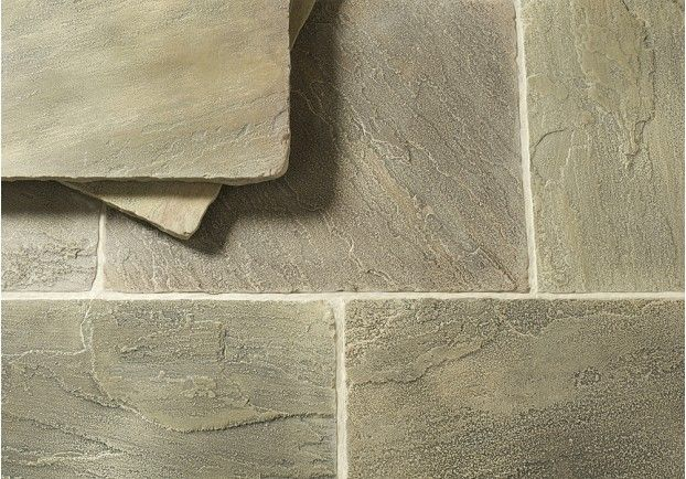 The Tudor Stone Sandstone is reminiscent of a York-stone floor. Perfect for creating a real traditional feel