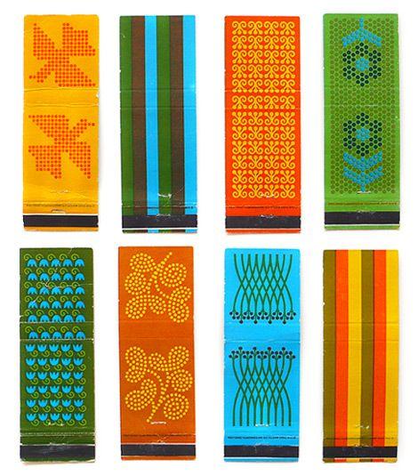 super colorful vintage matchbooks by Saul Bass