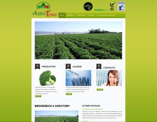 agrotomy.com Empresa agrícola exportadora de sus propias producciones #paginasweb