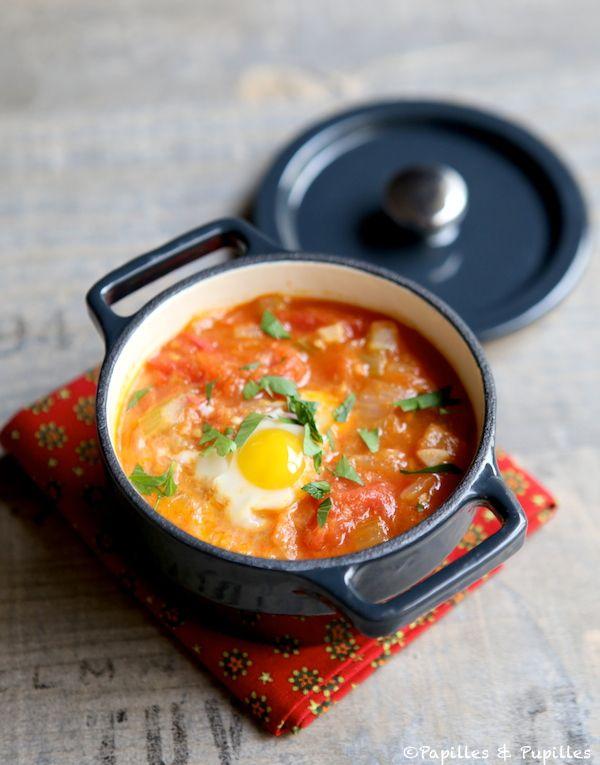 Mini cocotte de tomates et oeufs de caille - Recette Mini casserole with tomatoes and quail eggs - Recipe