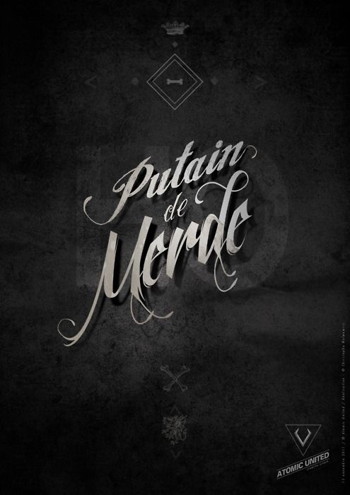 Putain #type #font #typo #typographie #lettering #typography