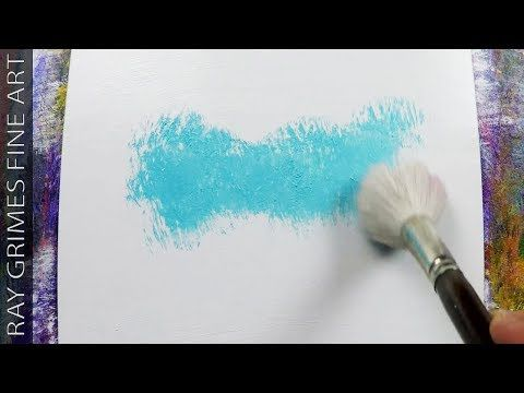 Simple Landscape / Fun and Easy / 158 / Relaxing / Blue / Abstract Painting / Demonstration – YouTube