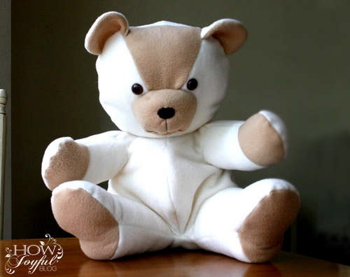 Creative ideas for you: Free Teddy Bear Pattern and Tutorial this would be cute patchwork-ed out of baby clothes