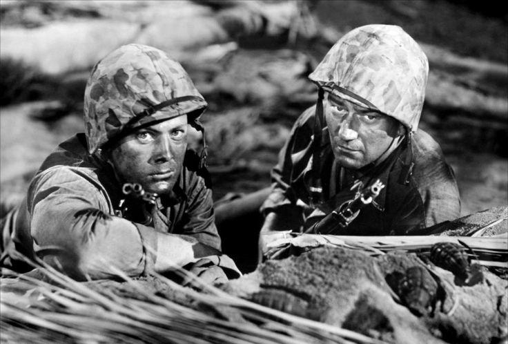 John Agar and John Wayne for Sands of Iwo Jima, 1949, directed by Allan Dwan.