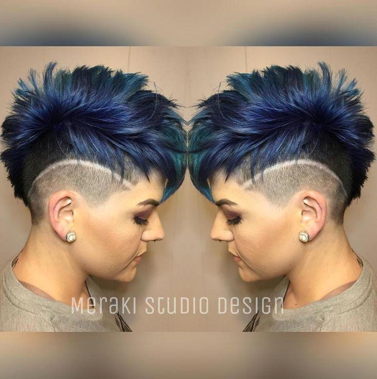 Blue undercut @pulpriot #dress #dairy # beauty #styles #shortcut #apulpriot #be ...