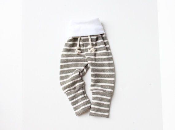 stripe skinny sweats by childHOODS on Etsy, $30.00