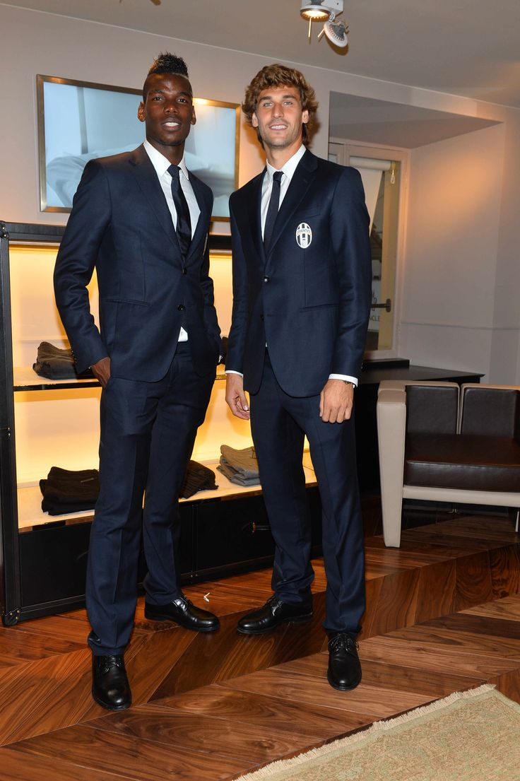 Paul Pogba and Fernando Llorente at the opening of the ...