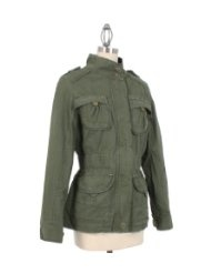 Romeo & Juliet Couture Military Style Jacket in Olive $140.00 $17.95