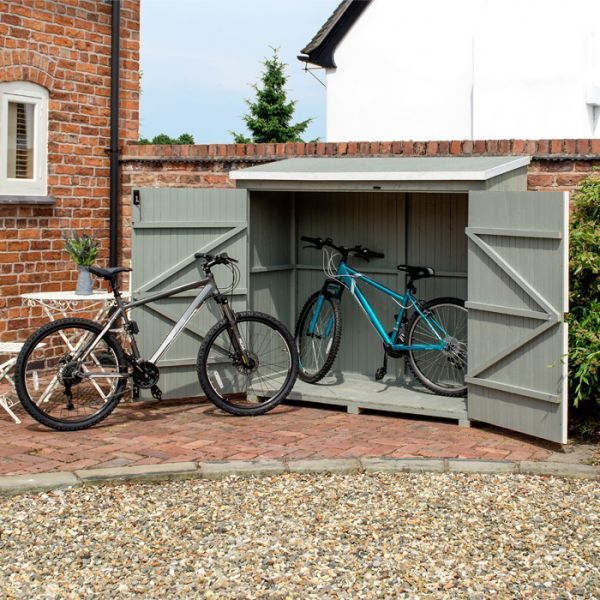 Rowlinson 6 X 3 Heritage Bike Shed The Perfect Size To Fit Any
