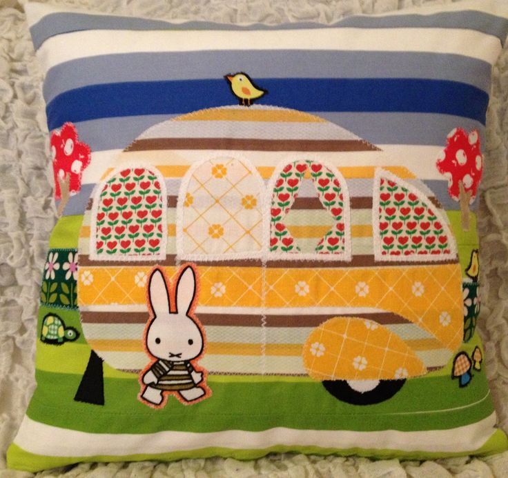 Vintage Miffy Fabric Caravan cushion