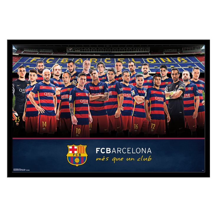 Trends International FC Barcelona Team Photo Wall Poster - FR14487BLK22X34