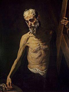 San Andrés es un cuadro del pintor español José de Ribera. Está realizado en óleo sobre lienzo. Mide 123 cm de alto y 95 cm de ancho. Fue pintado hacia 1631. Se encuentra en el Museo del Prado, Madrid, España. Representa al apóstol Andrés abrazado a la cruz en forma de aspa de su martirio. En la mano, lleva un anzuelo con un pez, recordando su oficio de pescador. Quedan fuertemente iluminados el rostro y el torso desnudo del santo.