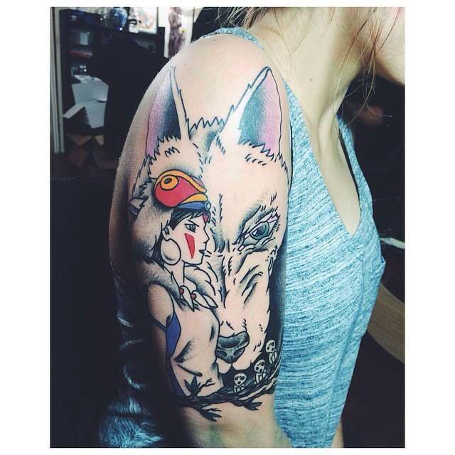 wrist tattoo princess mononoke spirit   Princess Mononoke Tattoo Design