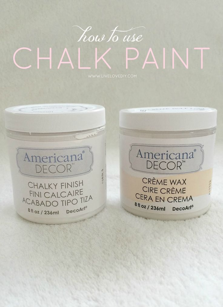 LiveLoveDIY: How To Paint Furniture with Chalkly Finish Paint (and how to survive a DIY disaster).