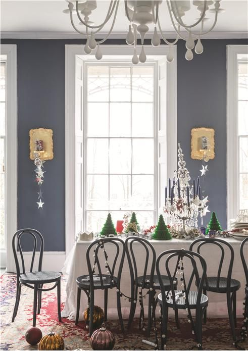 An inspirational image from Farrow and Ball love this blue for third room