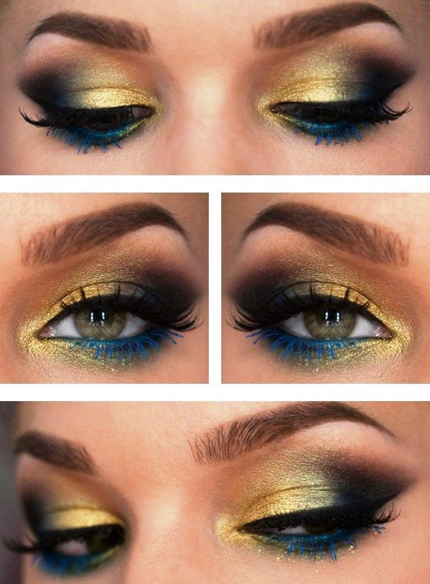Peacock inspired eye shadows: step by step tutorial ...