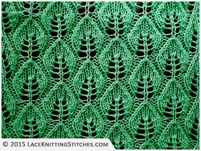 Co 14+8 / #LACE KNITTING No.3 | Embossed Leaf Lace stitch