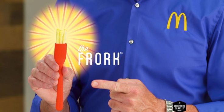 McDonald's have unveiled their latest product, the frork – essentially a fork, but with French fries as prongs – which is meant to scoop up any sandwich toppings that fall out while eating. (Digital Spy 3 May 2017)