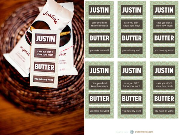 FREE Printables for Food Pun Gift Tags: Justin's PB, Extra Gum, Wholly Guacamole
