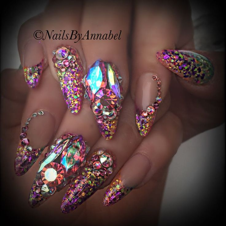 Best 25+ Bling nail art ideas on Pinterest | Bling nails ...
