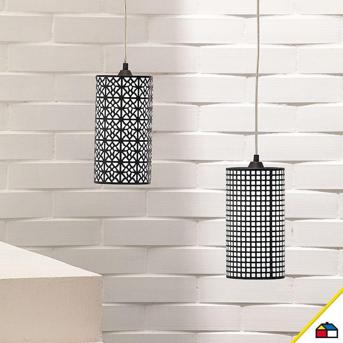 Imagina una lámpara de cilindro colgante en tus espacios.