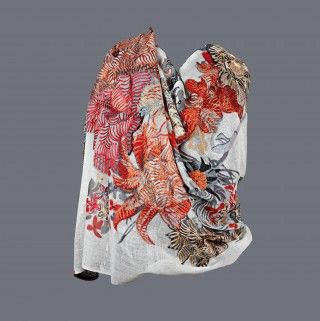 Featuring this Cream Floral Print Stole in our wide range of Stoles. Grab yourself one. Now!