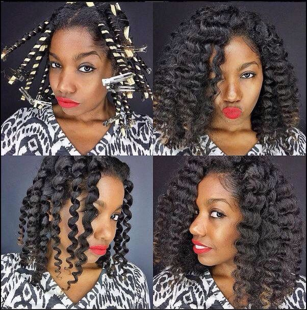 The Best Straw Set Curls Ideas On Pinterest Afro Hair With - Diy natural hairstyle
