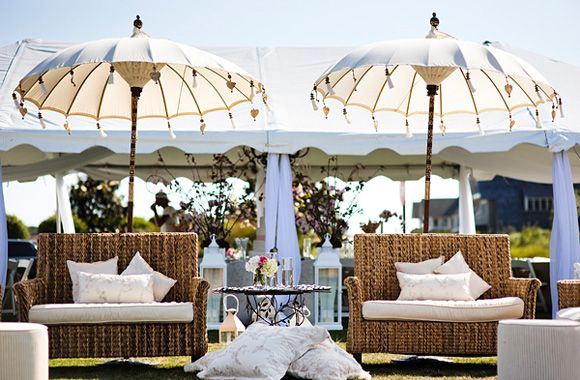 Love the tents and tasseled umbrellas...