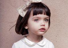 most beautiful little girl with a little bob haircut and bangs. Simonetta girl via melijoe.
