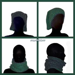 Vemps: Scaldacollo double face in mistolana, tessuto con telaio manuale.