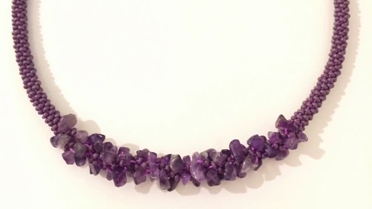 Kumihimo kolye ( doğal taşlı) Kumihimo Necklace ( naturt Stones) part 2 - YouTube