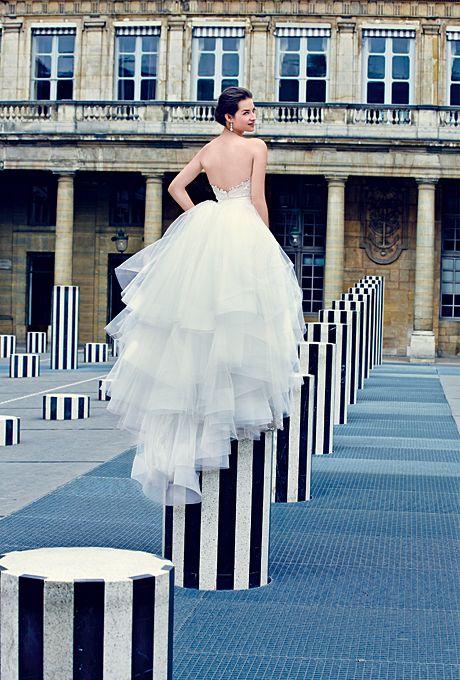 48 best Lazaro <3 images on Pinterest   Short wedding gowns, Wedding ...