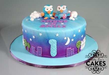 Hoot and Hootabelle Night Flight Twins Cake