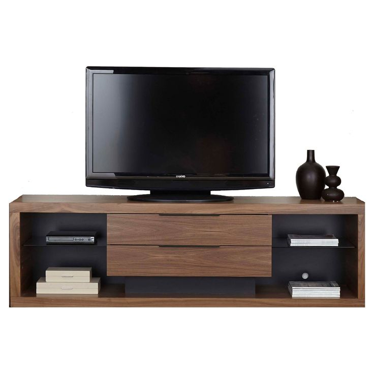 Stratus 80 inch TV Stand by Martin Home Furnishings - Walnut Finish - SS380