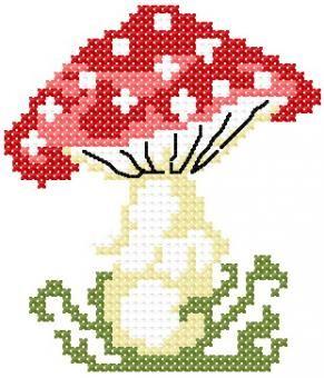 Χειροτεχνήματα: σχέδια με μανιτάρια για κέντημα / mushroom cross stitch patterns