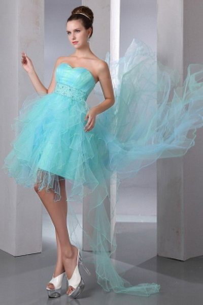 Tulle Elegant Sweetheart Party Dresses wr0900 - http://www.weddingrobe.co.uk/tulle-elegant-sweetheart-party-dresses-wr0900.html - NECKLINE: Sweetheart. FABRIC: Tulle. SLEEVE: Sleeveless. COLOR: Blue. SILHOUETTE: A-Line. - 122.59