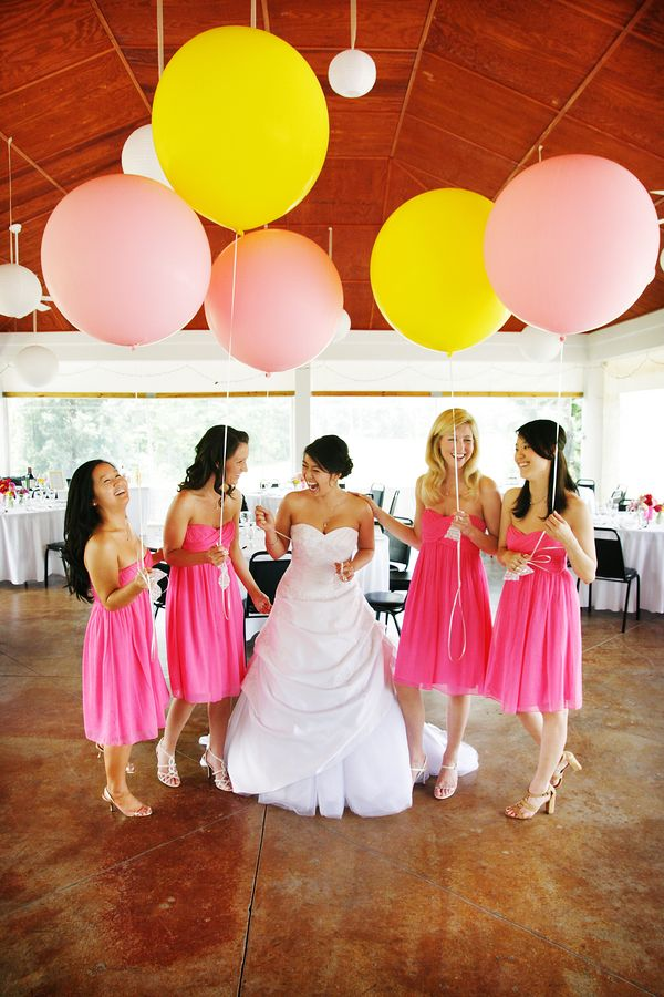 Whimsical Budget Friendly Diy Wedding Decorations Pink Yellow Virginia Wedding Pictures 13