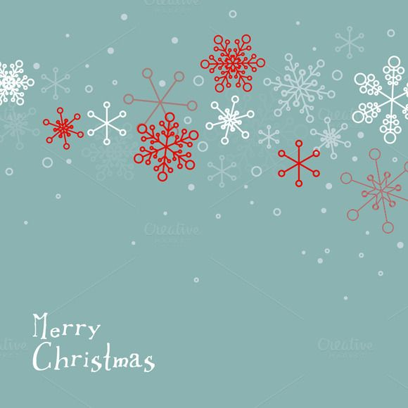 Set of 3 Minimalist Christmas Cards by Orson on Creative Market
