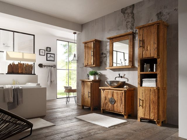 31 best Badmöbel images on Pinterest Bathroom, Bathrooms and - badezimmerm bel set holz