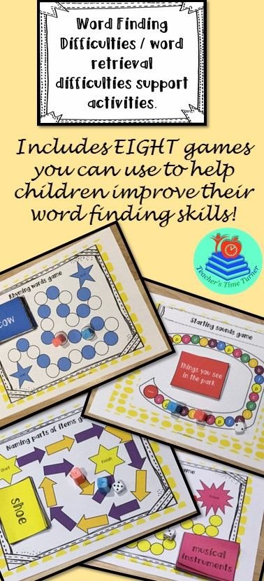 Need support activities for a child with word finding or word retrieval difficulties?!  Check out this bundle of EIGHT games and word maps to support children with making word associations.