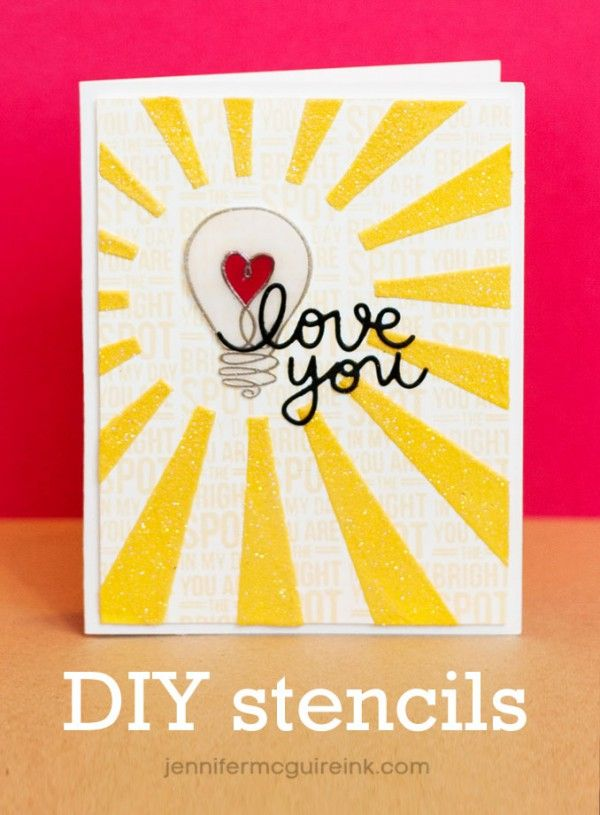 DIY Stencils and Colored Embossing Paste Video by Jennifer McGuire Ink
