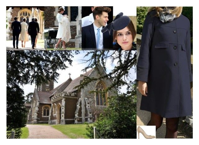 """Elizabeth and James Chamberlain attend the christening of Elizabeth's godson, Prince William of Wales, at St Mary Magdalene Church"" by lady-maud ❤ liked on Polyvore featuring Pippa, NERIDA FRAIMAN and L.K.Bennett"