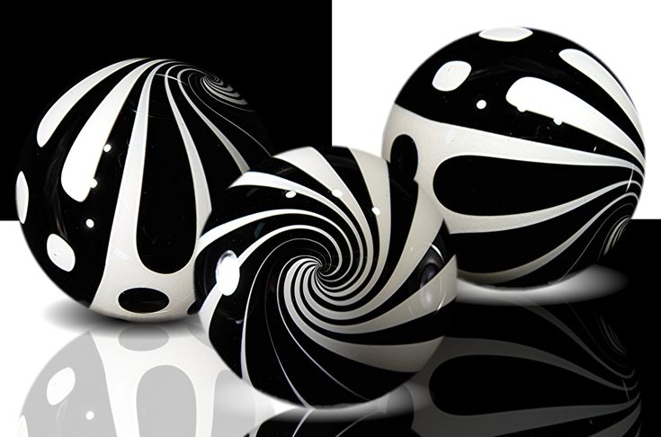 b and w marbles
